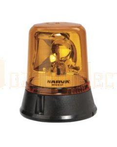 Narva 85650A Optimax Rotating Beacon (Amber) Flange Base 12/24 Volt