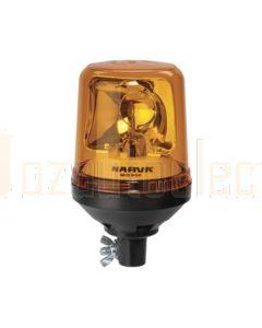 Narva 85654A Optimax Rotating Beacon (Amber) Pipe Mount Base 12/24 Volt