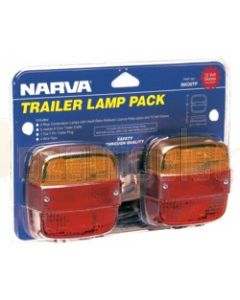 Narva 86030TP Trailer Lamp Pack with 7 Pin Flat Trailer Plug