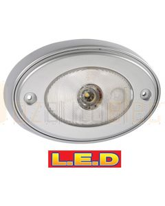 Narva 87642 10-30 Volt 1W L.E.D Silver Satin Courtesy Lamp with Off/On Switch and Mounting Spacer