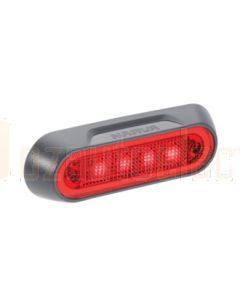 Narva 90832 10-30 Volt L.E.D Rear End Outline Marker Lamp (Red) with Grey Deflector Base and 0.5m Cable