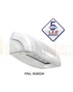 Narva 90862WBL 10-30 Volt L.E.D Licence Plate Lamp in White Housing with 0.5m cable (Blister Pack)