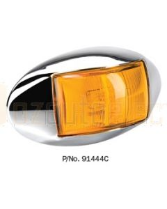 Narva 91444CBL 10-33 Volt L.E.D Side Direction Indicator Lamp (Amber) with Oval Chrome Deflector Base and 0.5m Cable (Blister Pack)