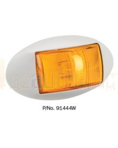 Narva 91444WBL 10-33 Volt L.E.D Side Direction Indicator Lamp (Amber) with Oval White Deflector Base and 0.5m Cable (Blister Pack)