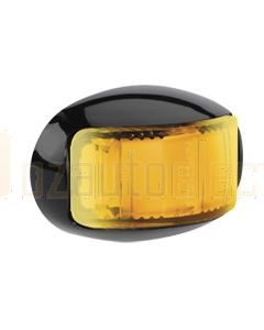 Narva 91646 9-33 Volt L.E.D Side Direction Indicator Lamp (Amber) with Oval Black Deflector Base and 2.5m Cable