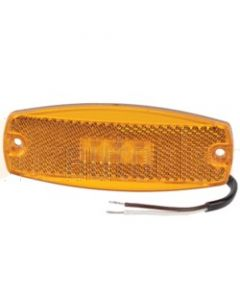 Narva 91700BL 9-33 Volt L.E.D Side Marker Lamp (Amber) with In-built Retro Reflector and 0.5m Cable (Blister Pack)