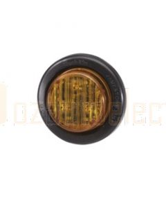 Narva 93052 10-30 Volt L.E.D Side Marker or Front End Outline (Amber) with Vinyl Grommet