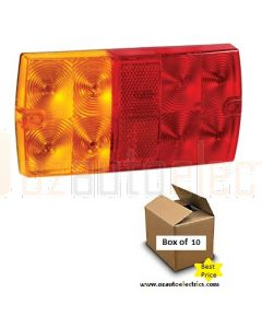 9-33V L.E.D Slimline Rear Stop/Tail, Direction Indicator Lamp with In-built Retro Reflector (Box of 10)