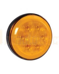 Narva 94303 9-33 Volt L.E.D Front Direction Indicator Lamp (Amber) with 0.5 Hard-Wired Sheathed Cable and Black Base