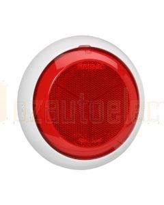 Red Retro Reflector with Contoured 150mm dia White Base