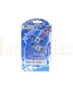 Aerpro AMA80 80 Amp Mini anl fuses packet of 2