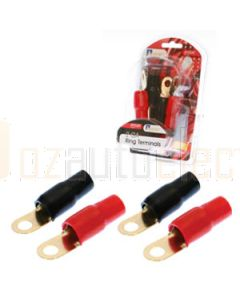Aerpro AP2GRT 2 Gauge ring terminals 2 red & 2 black