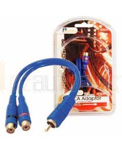 Aerpro AP323A 1M/2f rca splitter blue