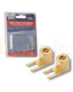 Aerpro AP6042 8Ga Fork Terminals Gold Plated Screws