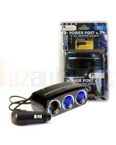 Aerpro APL3 3 Way 12/24v DC LED Sockets