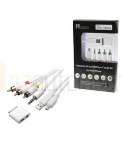 Aerpro APL40 1.5M A/V Cable Suits iPad/iPhone/iPod USB & Mini USB Input