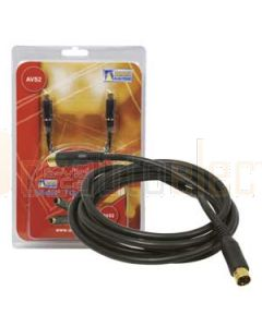 Aerpro AVS2 2 Metre 1M/1M S Video Cable