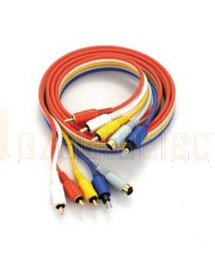 Aerpro PS68 Rca/S-Vhs/Optic Cable 1.5M