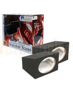 "Aerpro SB69A Sealed 6 x 9"" 152 x 228mm Speaker Box Gift Boxed per Pair"