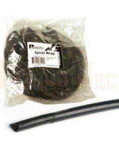 Aerpro SLT4 Spiral Cable Rap Range 4-50mm 10 Metre Length Black