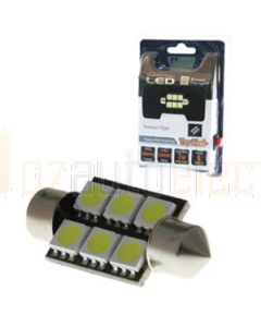 6 XSMD LED 36MM FESTOON - GREEN