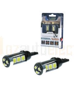Aerpro T1012TW Pair of T10 Wedge Globes With 12x White Super SMD LED
