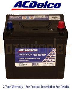 Ac Delco Advantage AD55D23L Automotive Battery 500CCA