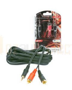 Aerpro AP235 3.5Mm stereo jack to 2 male rca 3 metre