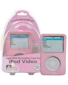 Aerpro APV89310 Pink PU Leather Case To Suit 30/60gb iPod Video