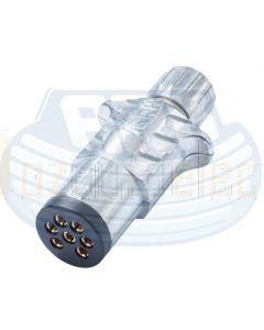 Ark MP70B 7 Pin Small Round Metal Trailer Magnetic Plug (Blister)