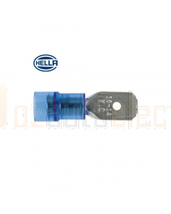 Hella 8518 PC Insulated Male Blade Terminals - Blue (Pack of 100) (8518)