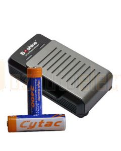 Battery Charger Kit for Powa Beam M3X Hunters LED Torch Kit
