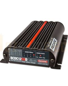 Redarc BCDC1250D Dual Input 12V 50A In-Vehicle DC Battery Charger