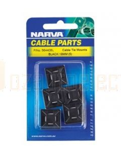 Narva 56446BL Cable Tie Mounts 28x28mm (Blister Pack of 5)