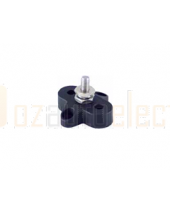 Prolec JBSM10B Single Stud Junction Block - 34mm Black