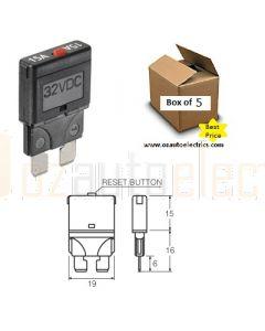 Narva 55725 Blade Manual Reset Circuit Breaker - 25 Amp (Box of 5)