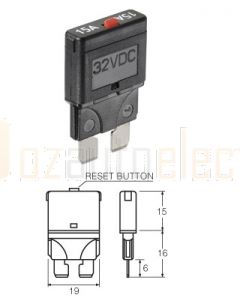 Narva 55710BL Blade Manual Circuit Breaker - 10 Amp (Blister Pack of 1)
