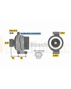 Bosch 0986049670 Alternator to suit Ford Focus Volvo C30 S40 V50