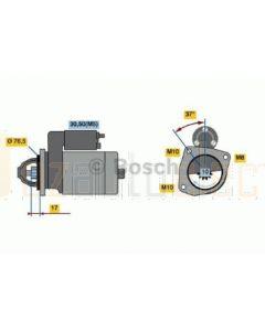Bosch 0986023530 Starter Motor to suit Nissan Xtrail 2.0L Diesel Renault