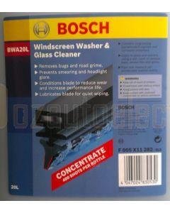 Bosch F005X11282 Windscreen Washer & Glass Cleaner Fluid 20L BWA20L