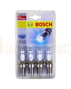 Bosch 0242229900 Super Plus Spark Plugs HR8DCX+ Set of 4