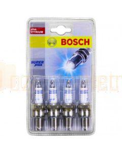 Bosch 0242229884 Super Plus Spark Plugs FR8DCX+ S19-4 Set of 4