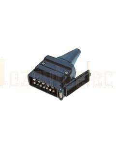 Britax 12 Pin Flat Plastic Plug (B47)