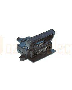 Britax 7 Pin Flat Plastic Socket, NO Reed SW (B5RN02)