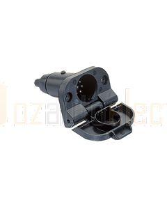 Britax 7 Pin Small Round Plastic Socket (B42)