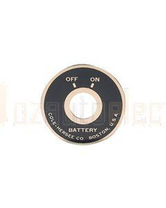 Britax Battery Switch Face Plate (82065)