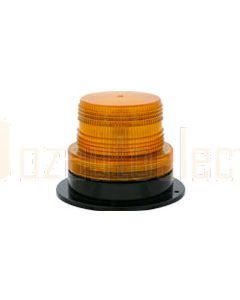 Britax Flange Base D128 (3 Bolt) Single Flash - Amber (JBS-130)