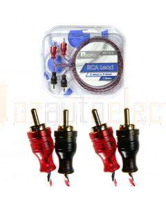 Aerpro BSX1RCA Bassix 1.0m RCA Lead 2m-2m