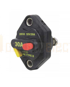 Bussmann 25510-B-1 Circuit Breaker Manual Reset w/ Threading Mounts 10A 32VDC