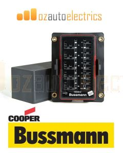 Bussmann 15303-6-6-4 RTMR 15300 Series Rear Terminal Mini Fuse and Relay Box (Single Bussed on Relays)